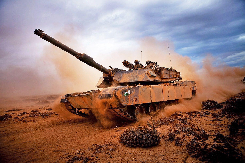 M1 Abrams in desert